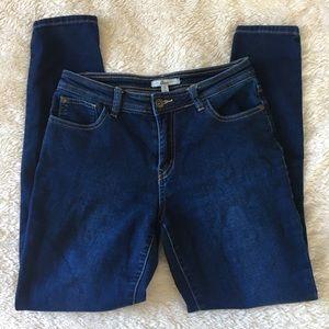 BASS brand dark wash skinny jean jeggings Size S